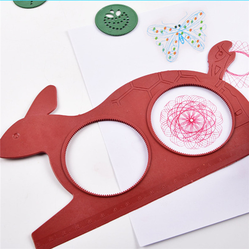 Drawing  Lovely Drawing Board Creativity For Children Spirograph Magic Turtle Rabbit Kids Educational Children's Creativity Toy