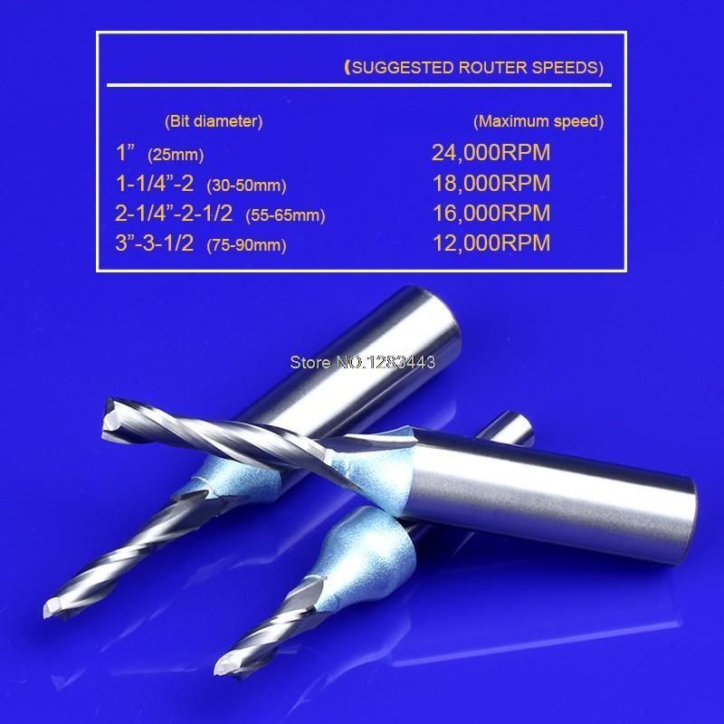 1PC 1/2*3*8 TCT Spiral Straight Woodworking Milling Cutter, Hard Alloy Cutters For Wood,Carpentry Engraving Tools 5905