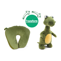 Cute Dinosaur Plush Doll Transform U Shape Pillow 2in1 Stuffed Animals Plush Soft Toy Girl Gifts for the New Year Christmas Toys