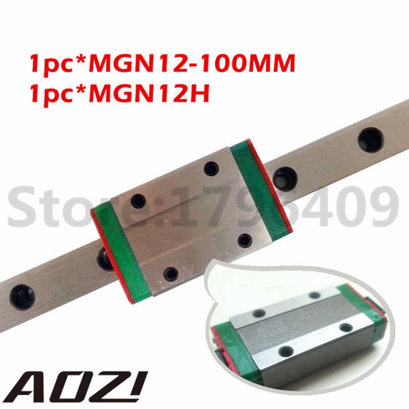 MR12 12MM Linear Rail Guide MGN12 Length 100mm With 1pc Min MGN12H Linear Block For X Y Z Axis Free Shipping axk mr12 miniature linear guide mgn12 long 400mm with a mgn12h length block for cnc parts free shipping