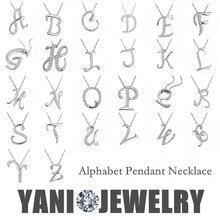 YANI Jewelry Silver Letter A B C D E F G H I J K L M N O P Q I S T U V W X Y Z Pendant Necklace Chain Collar Statement Necklace