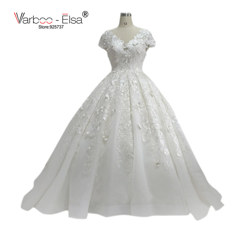 Back To Search Resultsweddings & Events Varboo_els Romantic Sweetheart Wedding Dress White Organza Lace Embroidery Bridal Ball Gown 2018 Sexy Off Shoulder Wedding Gowns Professional Design