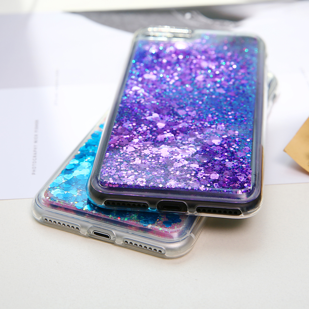 Bling Liquid Quicksand Phone Case For iPhone XS Max XR X 8 7 Plus Shiny  Sequin Glitter Case Cover For iPhone 5 5S SE 6 6S 7 Plus-in Fitted Cases  from ... 73ab02736125