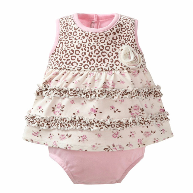 464f0d116eda Baby Girl Romper Floral Newborn Baby Rompers Cotton Ruffle Baby Girl ...