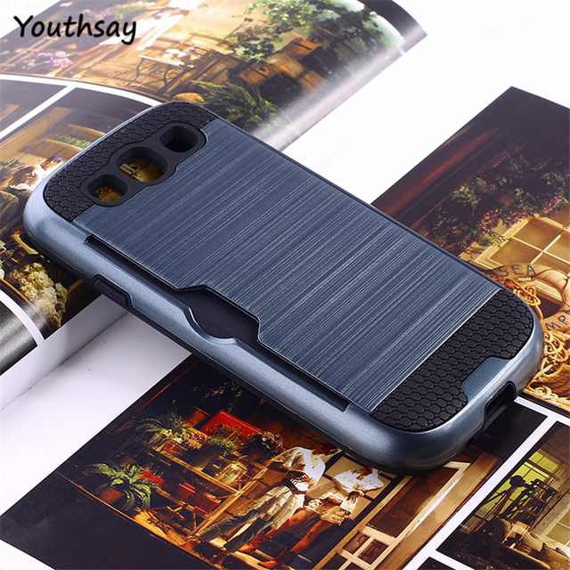 Youthsay For Coque Samsung Galaxy S3 Case i9300 Cover For Samsung Galaxy S3 Armor Case For Samsung S3 Phone Cover with Card Case