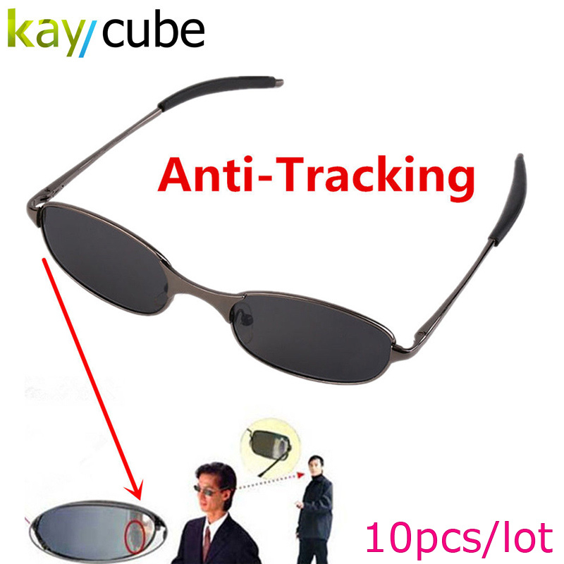 10Pcs ANTI FOLLOWING SUNGLASS -FINDER TRACKERS FOLLOWERS Anti-Track UV Protection Reflex Sunglasses Side Mirror Protective Case
