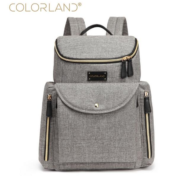 Colorland Baby Bag Fashion Nappy Bags Large Diaper Bag Backpack Baby Organizer Maternity Bags For Mother Handbag Baby Nappy