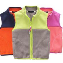 63c7c59c5 Nuevos chalecos calientes de color caramelo para niños, chaleco informal  con cremallera y cuello para niñas, chaleco Polar a pru.