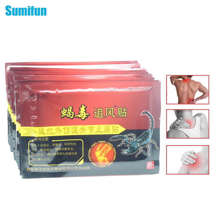 80pcs Joint Back Muscle Pain Relief Plaster Pain Relievr Chinese Scorpion Venom Extract Knee Rheumatoid Arthritis Pain Patch natural remedy for joint pain prostate health devices perineum muscle stimulator