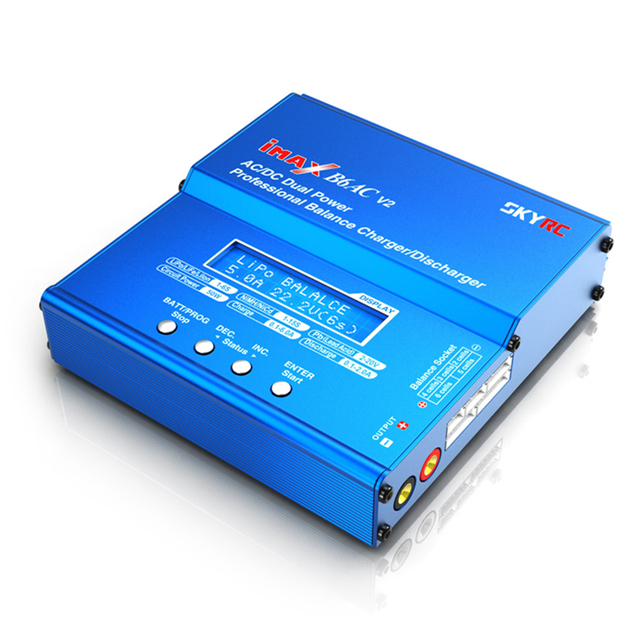 SKYRC IMAX B6AC V2 Charger 50W Lipo Battery Balance RC Discharger Helicopter Quadcopter With Power Adapter