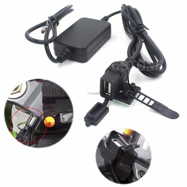 2018 estilo de coche USB Powerport 12 V 2.1A cargador doble para Smartphone iPhone Android GPS de la motocicleta G6KC