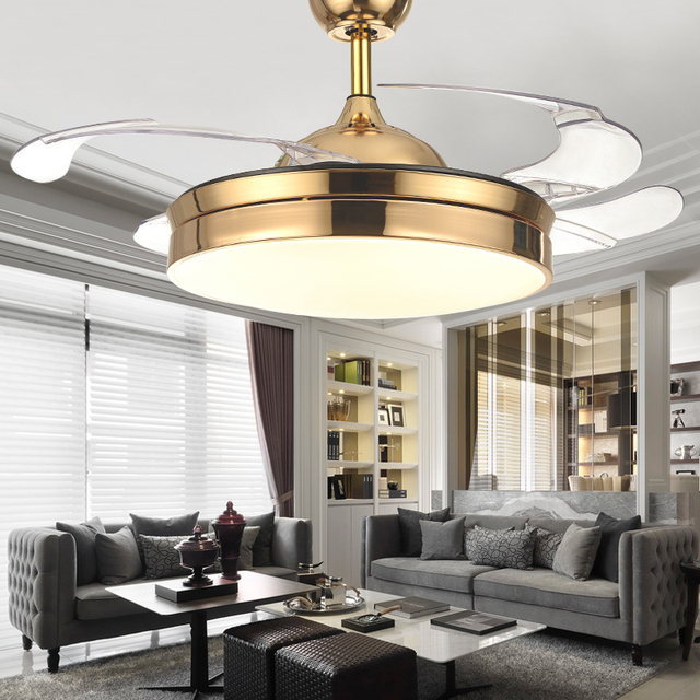 Modern invisible acrylic leaf led ceiling fans whiteblack steel led modern invisible acrylic leaf led ceiling fans whiteblack steel led ceiling fan lighting dining aloadofball Image collections