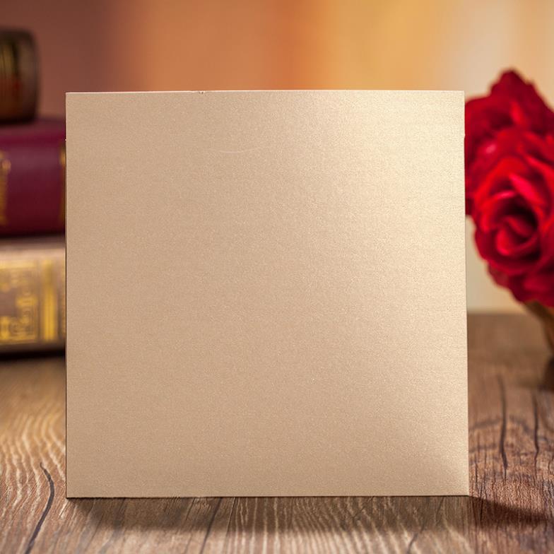 50 Sets Card Envelop Seal Laser Cut Wedding Invitations Cards