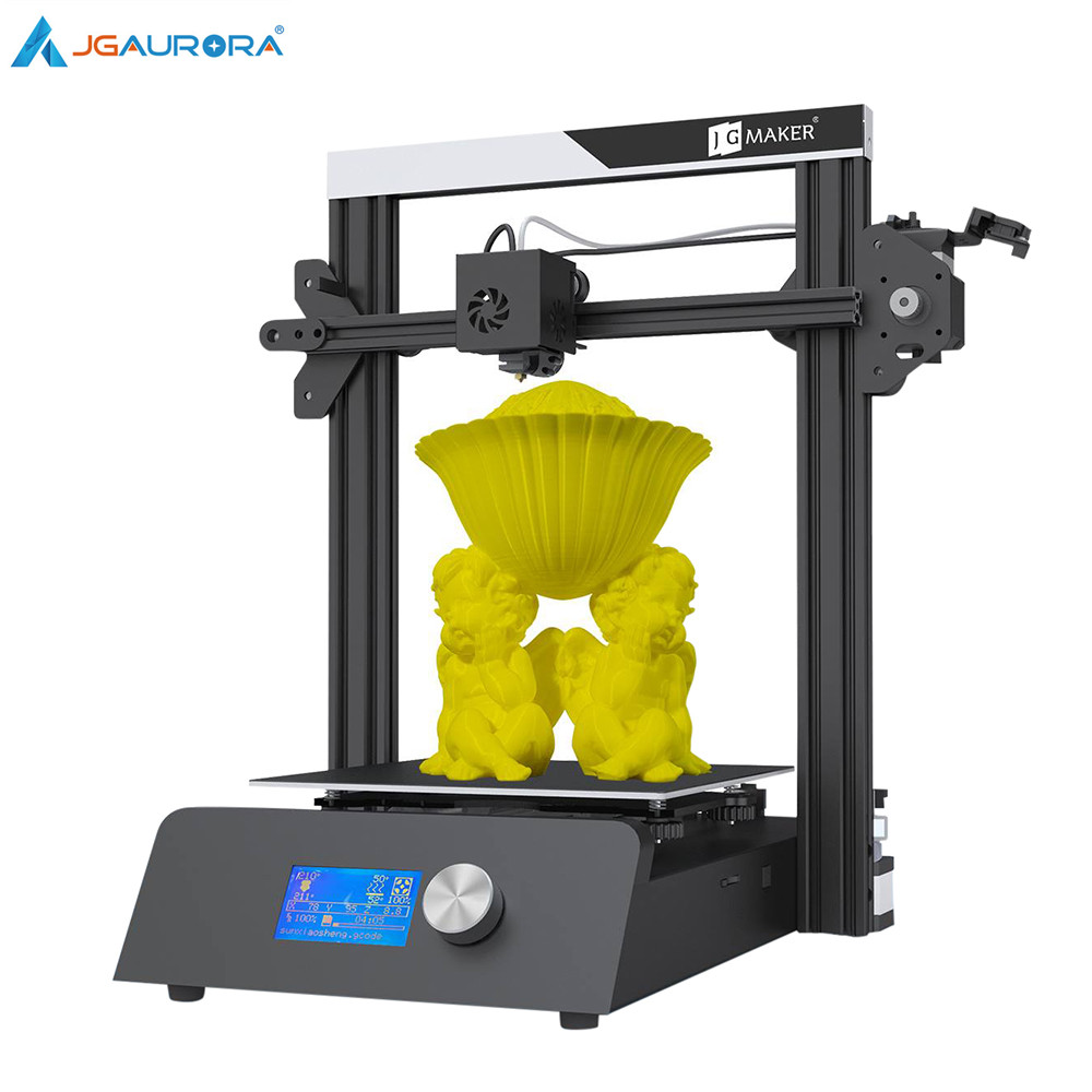 Impressora JGAURORA 3D JGMaker Magia Moldura de Alumínio KIT DIY Grande Construir Tamanho 220x220x250mm 3D Drucker retomar o Poder Off Brindes