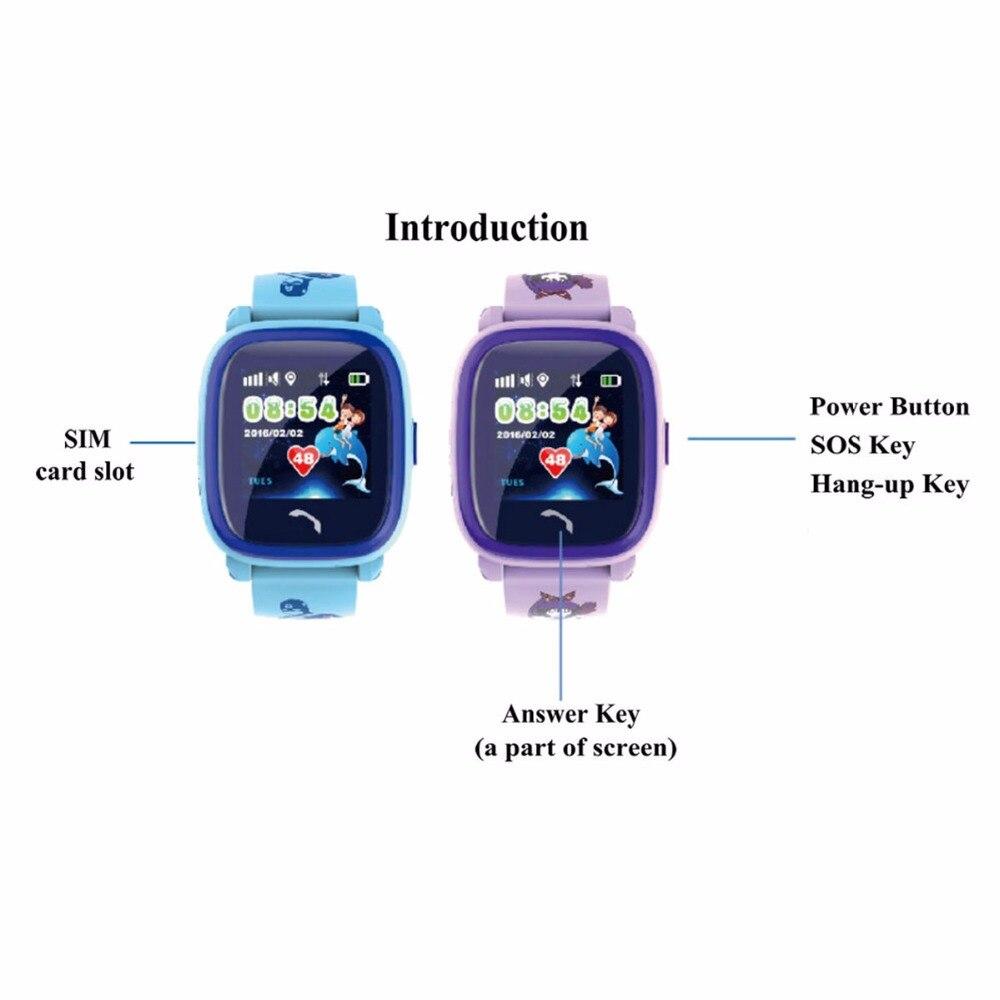 ed78144074c0 Impermeable DF25 niños reloj inteligente PK Q100 GPS inteligente bebé reloj  SOS llamada ubicación dispositivo rastreador niños seguro Anti-Pérdida  Monitor