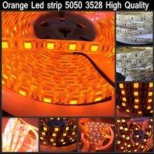 16.4ft 600nm True Orange led strip 5050 3528 SMD 5m 300 / 600 led tape rope lights 12V for Home Decoration Good quality
