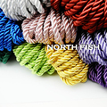 NORTH FISH 10yds 5mm Decorative Twisted Satin Polyester Twine Cord Rope String Thread