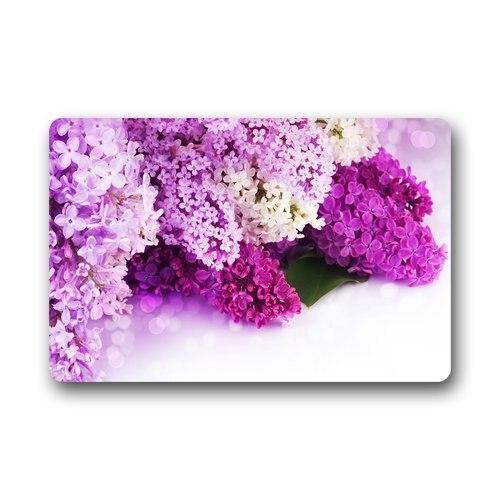Charmhome door mat pretty purple white pink flowers lilac doormat charmhome door mat pretty purple white pink flowers lilac doormat size doormat floor mat indoor outdoor decorate your home in mat from home garden on mightylinksfo