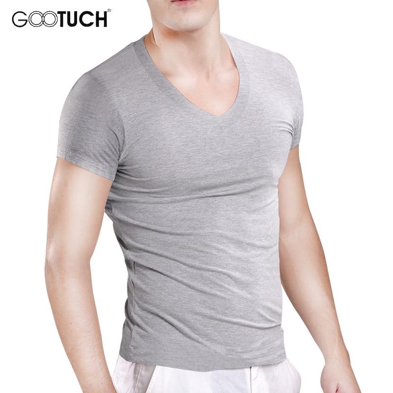 check out 37af5 6a20e US $9.11 5% OFF|Herren Unterhemd Plus Größe 5XL 6XL Engen Basis Shirt  Männer Kurzarm Modal Shirts V Neck Hombre Bis Anziehen Manschette ondergoed  ...