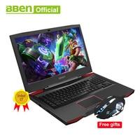 BBEN G17 Laptop Gaming Computer 7th Gen I7 Cpu GDDR5 NVIDIA GTX1060 Windows10 DDR4 8G 16G