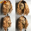 T1/27 Blonde Ombre Full Lace Wigs Body Wave Colored Lace Front Human Hair Wigs Brazilian Virgin Hair U Part Wigs For Black Women