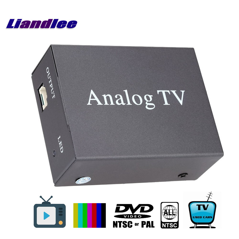 Liandlee Global Car DVD TV Receiver Mobile Analog TV Tuner Host Box System A-TV Antenna PAL NTSC SECAM Model Analog-T-9224