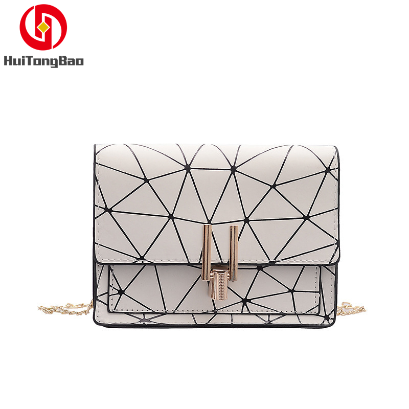 Women Fashion Summer Flap Mini Bag Crossbody Single Shoulder Messenger Leather Cover Grid Party Shopping Luxury Designer Bags in Shoulder Bags from Luggage Bags