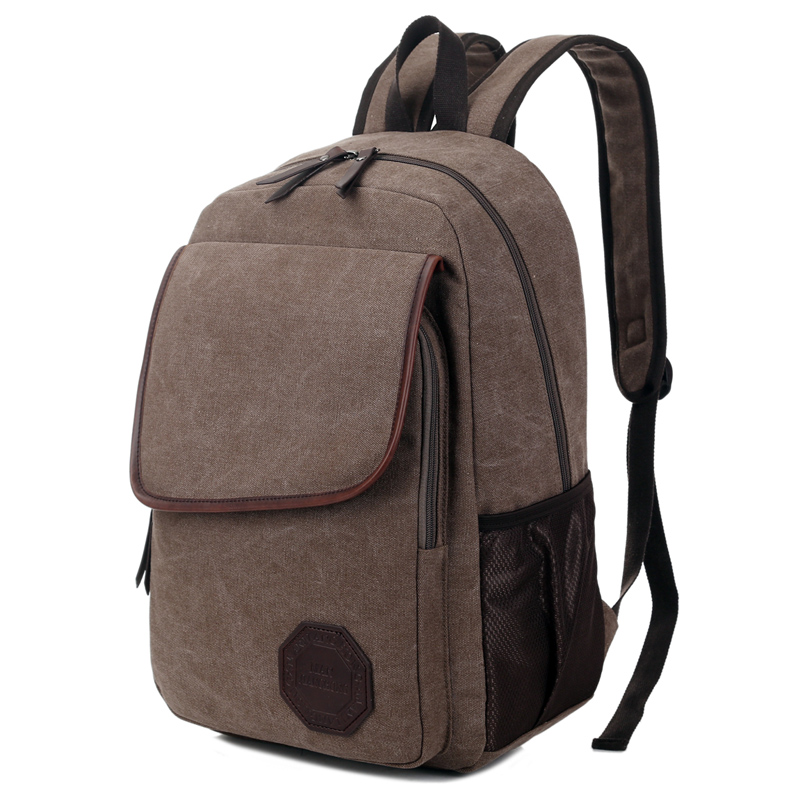England Style Canvas Backpack Men Travel Bag Vintage Retro Business Laptop Backpack 14 Inch Casual Rucksack Men School Bag 1332 retro style two front pockets laptop compartment vintage canvas solid color backpack