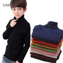 UNINICE Infant Baby Sweater Winter Warm Children Sweater For Boys Girls Knitted Turtleneck Pullover Kids Thicken Sweater 2-12 Y