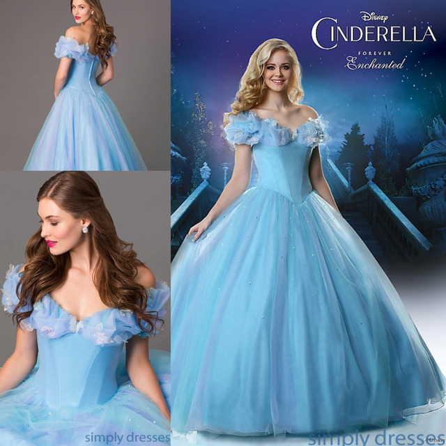 Free Shipping Gorgeous Cinderella Prom Dresses Sweetheart Backless