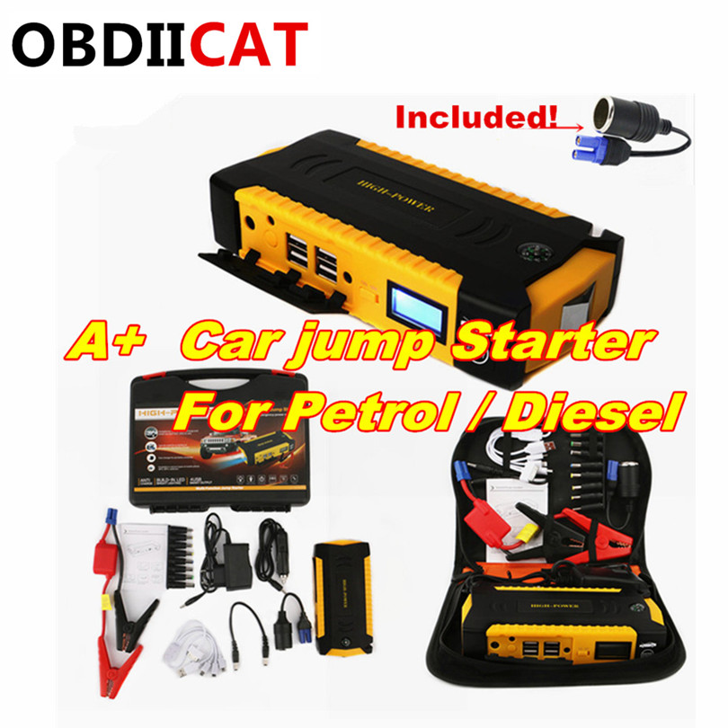 Car Jump Starter Cars-Booster Petrol High-Power Portable Emergency-Battery-Charger Diesel