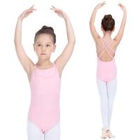 Cotton Lycra 2 Pieces Camisole Dancing Leotards Girls Ballet Bodysuit Kids Gymnastic Costumes Full Sizes Colors