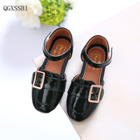 2016 Autumn New Children Girls Leather Shoes With Diamends Rhinestones For Kids Princess Girls Lovely PU
