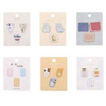 Magnetic Bookmark Cute Animal Series Creative Mini Book Folder Flip 3 Fresh Metal Gift