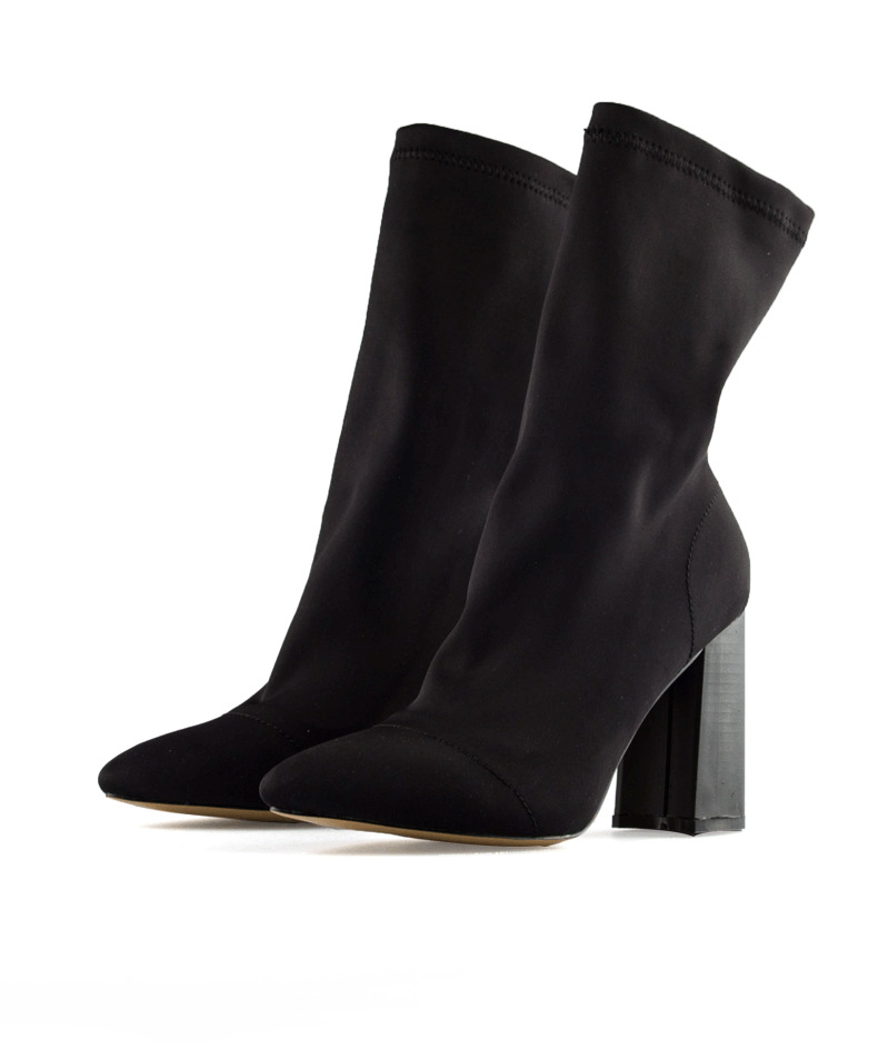 SOCK BOOT - Botas - black