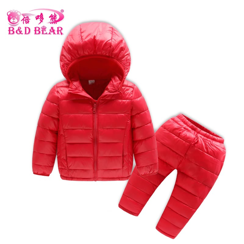 Winter Baby Girls Kids Boys Clothing Set Winter 2 Piece Hooded Coat Suit Children Down Cotton-padded Coat+Pants Kids Infant Warm children winter coats jacket baby boys warm outerwear thickening outdoors kids snow proof coat parkas cotton padded clothes
