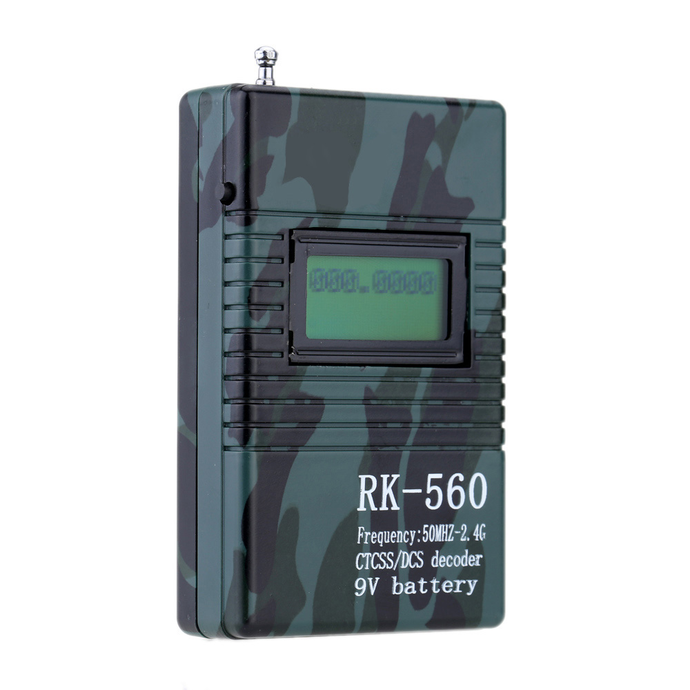 New RK560 50MHz-2.4GHz Portable Handheld Frequency Counter DCS CTCSS Radio Testing Frequency Meter Counter frequency meter counter cymometer antenna analyzer radio new 100