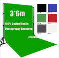 3mX6m 3*6 100% Cotton Muslin Photography Backdrop Photo Studio Video Movie Background camera lighting fond Studio kit DHL