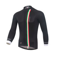 supersale 2016 popular XINTOWN Men black long sleeve cycling jersey top bike clothing autumn/spring