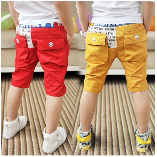 SL-38, summer children girls shorts, children boys shorts, solid color, cotton twill ...