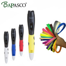 New 3D Pen Original BAPASCO Brand Safe Puzzle Education Tool For Kids 3D Doodle Pen 3D 5V/2A USB Portable 3D Magic Pen ABS/PLA