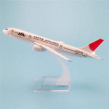 16cm Metal Alloy Plane Model Air JAL Japan Airlines Boeing 777 B777 Airways Airlines Airplane Model w Stand Aircraft   Gift