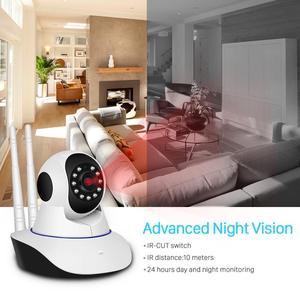 Image 5 - BESDER 1080P כפולה Antanne אלחוטי IP מצלמה חכם WiFi IP מצלמת 360 מעלות בית פנורמי ראיית לילה מצלמת