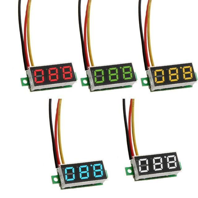 0.28 inch Digital Voltmeter 3 Wire DC 0V to 100V LED Digital Voltage Wiring Digital Voltmeter on voltage meter wiring, motion detector wiring, power supply wiring, digital voltmeter operation, ammeter wiring, null modem cable wiring, digital voltmeter circuits, smoke detector wiring,