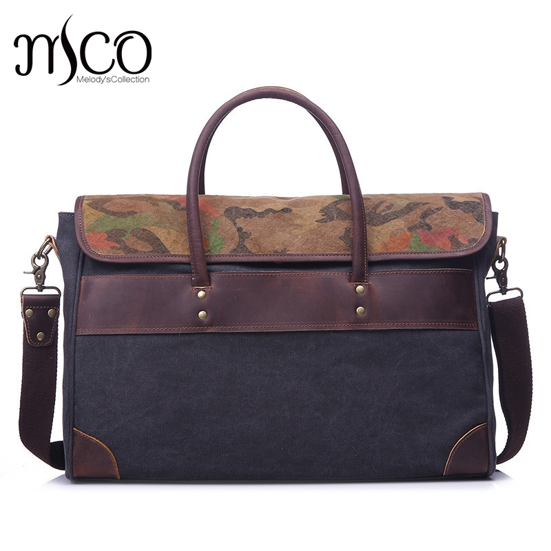 16176229b989 Melodycollection Oilskin Leather Shoulder Crossbody Satchel Waterproof  Canvas Man handbag Briefcases School Messenger Bolsas Bag