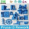 Reprap Prusa I3 Rework 3D Printer PLA Required PLA Plastic Parts Set Kit Blue Color Free