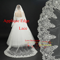 Affordable In Stock 3 meter Long Lace sequins Wedding Veil Bridal Veils Wedding Accessories