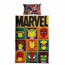 IKathoME Kids Bedding Sets Marvel Avengers Super Heroes Anime 2 Side 3D Print Single Quilt Set Duvet Cover Pillow Case
