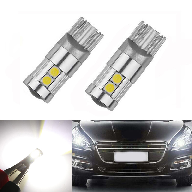 2x T10 <font><b>LED</b></font> W5W <font><b>LED</b></font> Car <font><b>LED</b></font> 12V Auto Lamp Clearance Light Parking For <font><b>Peugeot</b></font> 307 206 301 207 2008 508 301 3008 406 507 <font><b>208</b></font> image