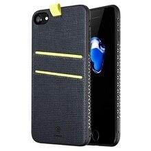 Baseus для iPhone 7 Чехол Lang Серии PC + PU + ТПУ Защитный Чехол с Карты Слоты & Ремешок и Магнитный функция